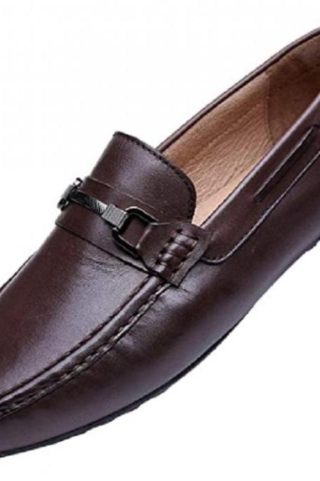 Bit Loafers For Men Custom Made Premium Leather Apron Toe Slip On Casual Shoes