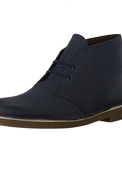 Men's Chukka Ankle Boots Made To Order Premium Suede Leather Lace Up Plain Toe