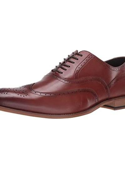Full Brogues Oxfords Wingtip Medallion Toe Lace Up Genuine Leather Made To Order